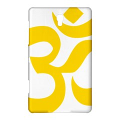 Hindu Om Symbol (yellow) Samsung Galaxy Tab S (8 4 ) Hardshell Case  by abbeyz71