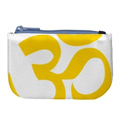 Hindu Om Symbol (yellow) Large Coin Purse by abbeyz71