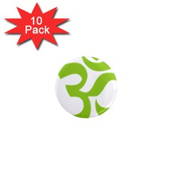Hindu Om Symbol (lime Green) 1  Mini Magnet (10 Pack)  by abbeyz71