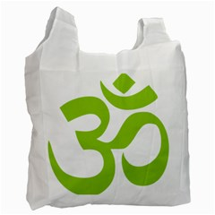 Hindu Om Symbol (lime Green) Recycle Bag (two Side)  by abbeyz71