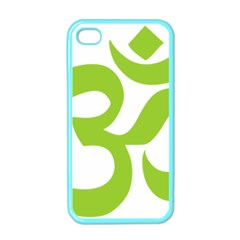Hindu Om Symbol (lime Green) Apple Iphone 4 Case (color) by abbeyz71