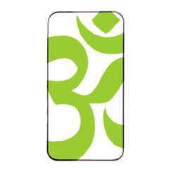 Hindu Om Symbol (lime Green) Apple Iphone 4/4s Seamless Case (black) by abbeyz71