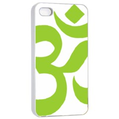 Hindu Om Symbol (lime Green) Apple Iphone 4/4s Seamless Case (white) by abbeyz71