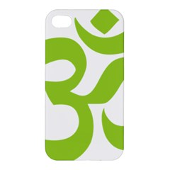Hindu Om Symbol (lime Green) Apple Iphone 4/4s Hardshell Case by abbeyz71