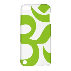 Hindu Om Symbol (lime Green) Apple Ipod Touch 5 Hardshell Case by abbeyz71