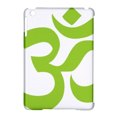 Hindu Om Symbol (lime Green) Apple Ipad Mini Hardshell Case (compatible With Smart Cover) by abbeyz71