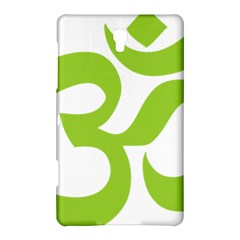 Hindu Om Symbol (lime Green) Samsung Galaxy Tab S (8 4 ) Hardshell Case  by abbeyz71