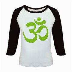 Hindu Om Symbol (lime Green) Kids Baseball Jerseys by abbeyz71