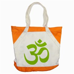 Hindu Om Symbol (lime Green) Accent Tote Bag by abbeyz71