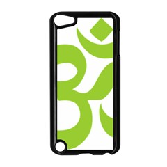Hindu Om Symbol (lime Green) Apple Ipod Touch 5 Case (black) by abbeyz71