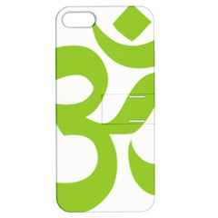 Hindu Om Symbol (lime Green) Apple Iphone 5 Hardshell Case With Stand by abbeyz71