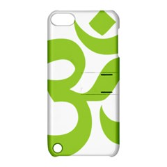 Hindu Om Symbol (lime Green) Apple Ipod Touch 5 Hardshell Case With Stand by abbeyz71