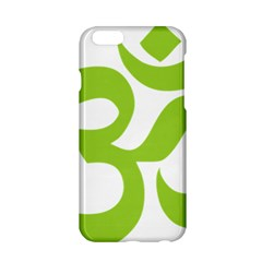 Hindu Om Symbol (lime Green) Apple Iphone 6/6s Hardshell Case by abbeyz71