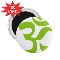 Hindu Om Symbol (lime Green) 2 25  Magnets (100 Pack)  by abbeyz71