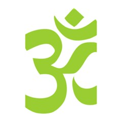 Hindu Om Symbol (lime Green) Shower Curtain 48  X 72  (small)  by abbeyz71