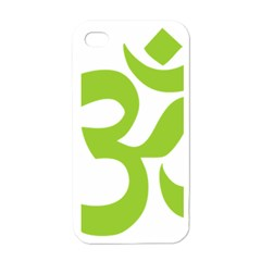 Hindu Om Symbol (lime Green) Apple Iphone 4 Case (white) by abbeyz71