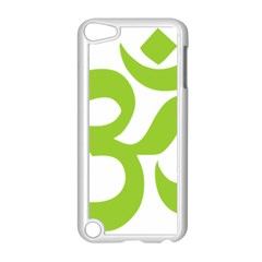 Hindu Om Symbol (lime Green) Apple Ipod Touch 5 Case (white) by abbeyz71