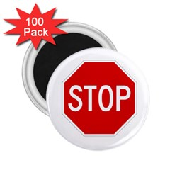 Stop Sign 2 25  Magnets (100 Pack)  by Valentinaart