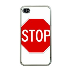 Stop Sign Apple Iphone 4 Case (clear) by Valentinaart