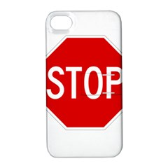 Stop Sign Apple Iphone 4/4s Hardshell Case With Stand by Valentinaart