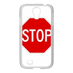 Stop Sign Samsung Galaxy S4 I9500/ I9505 Case (white) by Valentinaart