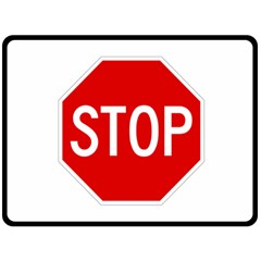 Stop Sign Double Sided Fleece Blanket (large)