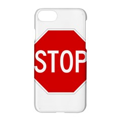 Stop Sign Apple Iphone 7 Hardshell Case by Valentinaart