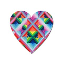 Rainbow Chem Trails Heart Magnet