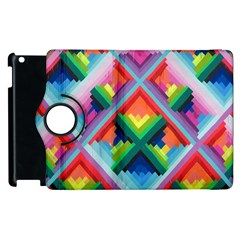 Rainbow Chem Trails Apple Ipad 3/4 Flip 360 Case