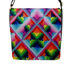 Rainbow Chem Trails Flap Messenger Bag (l)
