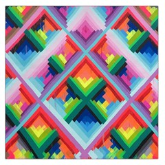 Rainbow Chem Trails Large Satin Scarf (square) by Nexatart