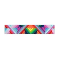 Rainbow Chem Trails Flano Scarf (mini) by Nexatart