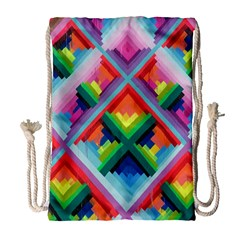 Rainbow Chem Trails Drawstring Bag (large) by Nexatart