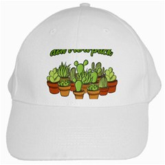Cactus   Dont Be A Prick White Cap by Valentinaart