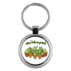 Cactus   Dont Be A Prick Key Chains (round)  by Valentinaart