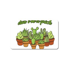 Cactus   Dont Be A Prick Magnet (name Card) by Valentinaart
