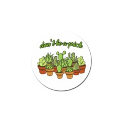 Cactus   Dont Be A Prick Golf Ball Marker by Valentinaart