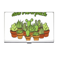 Cactus   Dont Be A Prick Business Card Holders by Valentinaart