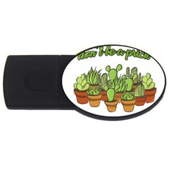 Cactus   Dont Be A Prick Usb Flash Drive Oval (4 Gb) by Valentinaart