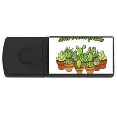 Cactus   Dont Be A Prick Usb Flash Drive Rectangular (4 Gb) by Valentinaart