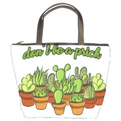 Cactus   Dont Be A Prick Bucket Bags by Valentinaart