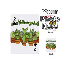 Cactus   Dont Be A Prick Playing Cards 54 (mini)  by Valentinaart