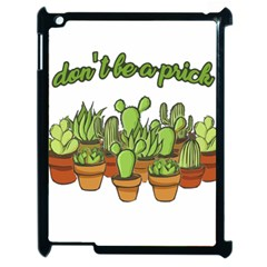 Cactus   Dont Be A Prick Apple Ipad 2 Case (black) by Valentinaart