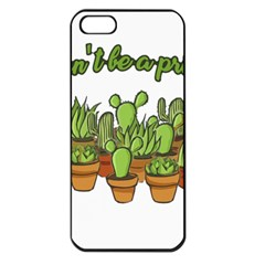 Cactus   Dont Be A Prick Apple Iphone 5 Seamless Case (black) by Valentinaart