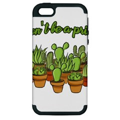 Cactus   Dont Be A Prick Apple Iphone 5 Hardshell Case (pc+silicone) by Valentinaart