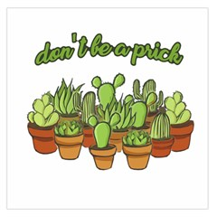 Cactus   Dont Be A Prick Large Satin Scarf (square) by Valentinaart