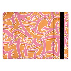 Abc Graffiti Samsung Galaxy Tab Pro 12 2  Flip Case by Nexatart