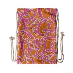 Abc Graffiti Drawstring Bag (small) by Nexatart
