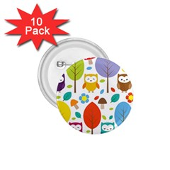 Cute Owl 1 75  Buttons (10 Pack)