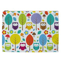 Cute Owl Cosmetic Bag (xxl)